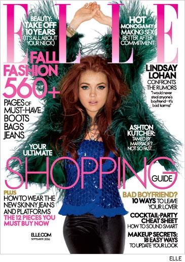 Lindsay Lohan in ELLE