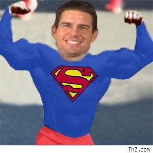 Tom Cruise in Superman pose