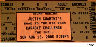 Justin Guarini ticket