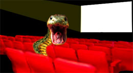 Snakes in a theater!