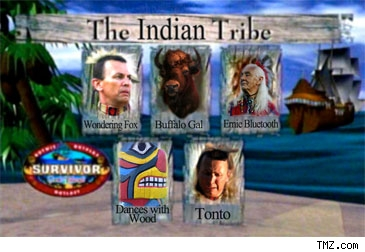 Parody of Native American Survivor team