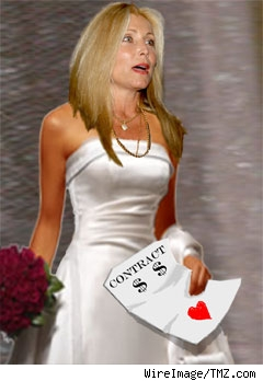 Composite of Pam Bach in wedding dress
