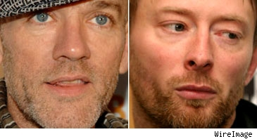 Michael Stipe and Tom Yorke