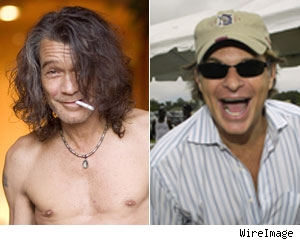 Eddie Van Halen and David Lee Roth
