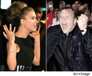 Scarlett Johansson and Meatloaf