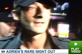 Adrien Brody's night out on the town