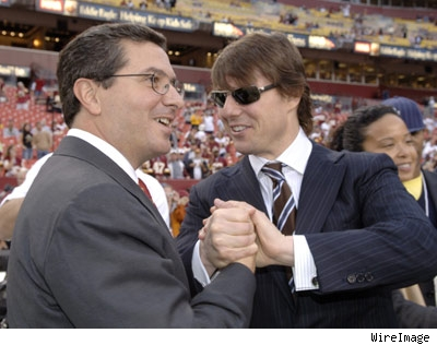 Tom Cruise and Washington Redskins owner Daniel Snyder.