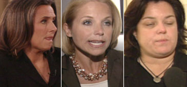 Meredith Viera, Katie Couric, and Rosie O'Donnell