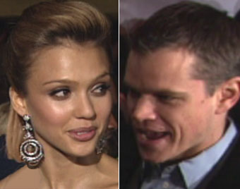 Jessica Alba and Matt Damon