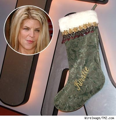 kirstie alley's stocking w/ inset of kirstie