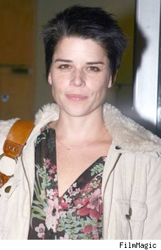 Neve Campbell goes butch