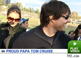 Proud Papa Tom Cruise! Click to Watch!