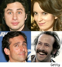 Zach Braff, Tina Fey, Steve Carell, Jason Lee