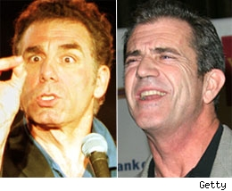 Mel Gibson and Michael Richards