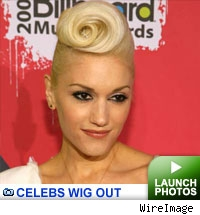 Stars with wigs on at the Billboard music awards