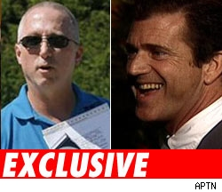 James Mee and Mel Gibson