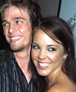Aaron Carter and Kaci Brown