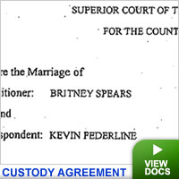 Spears custody agreement