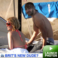 Brit's new dude? gallery: Click to launch photos