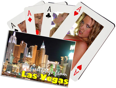 Composite of Katie Rees and Las Vegas