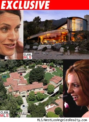 Courtney Cox, Britney Spears' estates