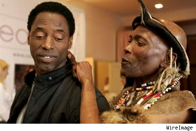 Isaiah Washington and new pal.