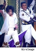 Jermaine and Michael Jackson