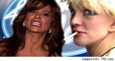 Paula Abdul and Courtney Love