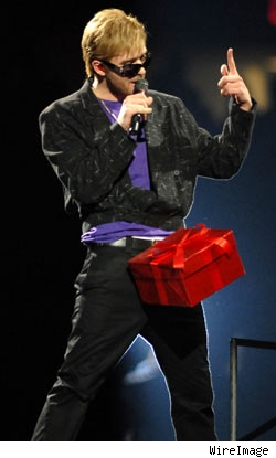 Justin Timberlake with his thing in a box
