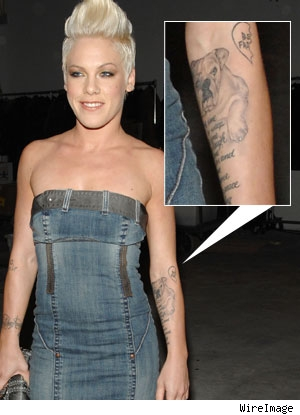 Pink's New Tat P!nk will never forget her recently departed pooch
