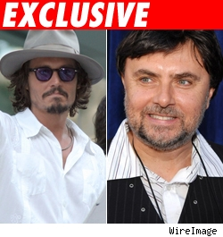 Johnny Depp and Gabor Csupo