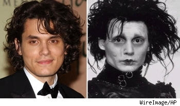 John Mayer resembles Edward Scissorhands