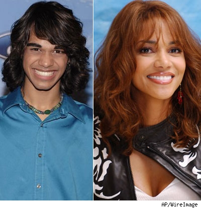 Sanjaya and Halle Berry