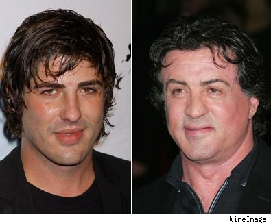 Brandon Davis and Sylvester Stallone