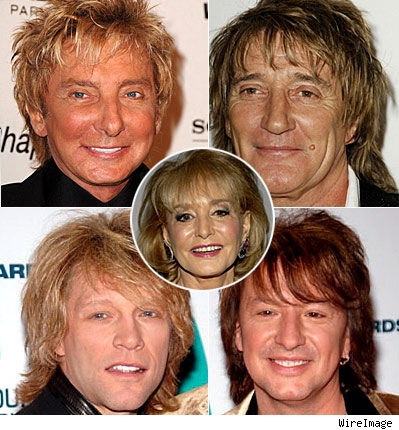 Barry Manilow, Rod Stewart, Barbara Walters, Jon Bon Jovi, Richie Sambora, 