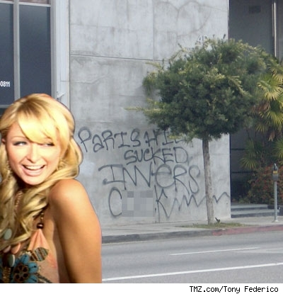 Paris Hilton Graffiti