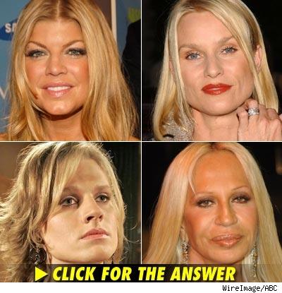 Fergie, Nicollette Sheridan, Zarf, Donatella Versace