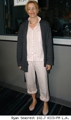 Felicity Huffman in her PJs.