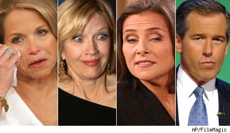 Katie Couric, Diane Sawyer, Meredith Vieira, Brian Williams
