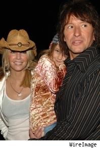 Heather Locklear, Richie Sambora, and child