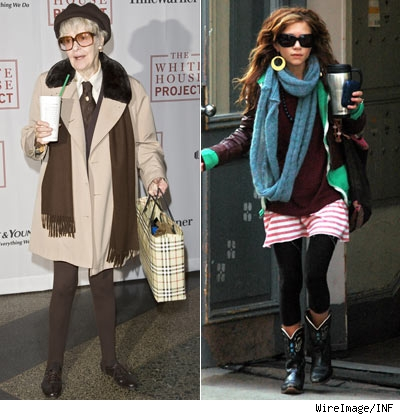 Elaine Stritch and Mary-Kate Olsen