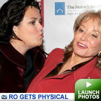 Rosie gets physical: click to view photos