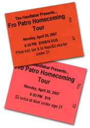 Fro Patro Homecoming Tour Tickets