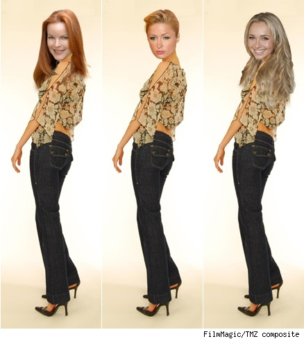 Marcia Cross, Paris Hilton, Hayden Panettiere