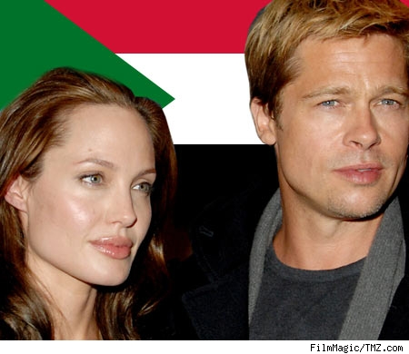 Composite of Brangelina and flag of Sudan