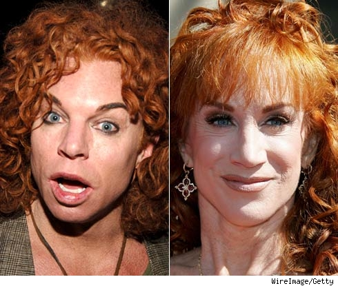 Carrot Top and Kathy Griffin