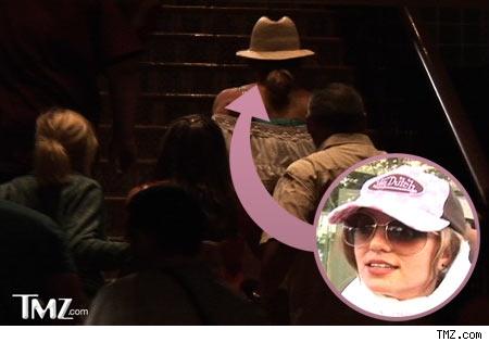 Britney Spears walks into Teddy's nightclub