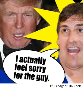 Composite of Mark Cuban and Donald Trump