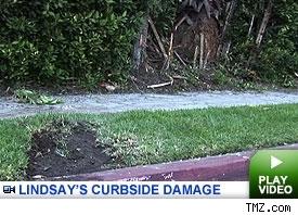 Lindsay Lohan crash scene: click to watch video