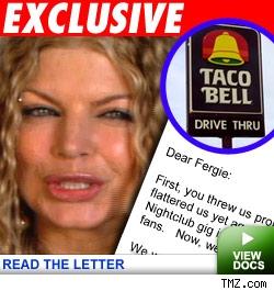 Fergie, Taco Bell